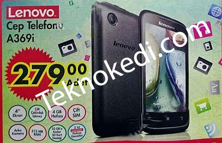 A101 Lenovo a369i Cep telefonu