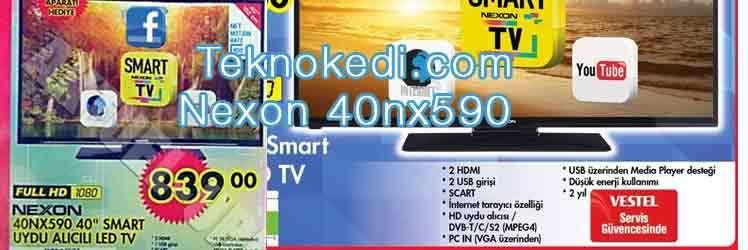 A101 Nexon 40nx590 Smart uydu alıcılı televizyon