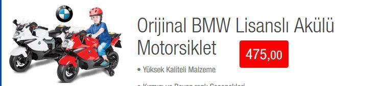 Bim Akülü BMW Lisanslı Akülü Motorsiklet