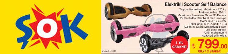 Elektrikli Scooter Self Balance Ginger Şok Markette