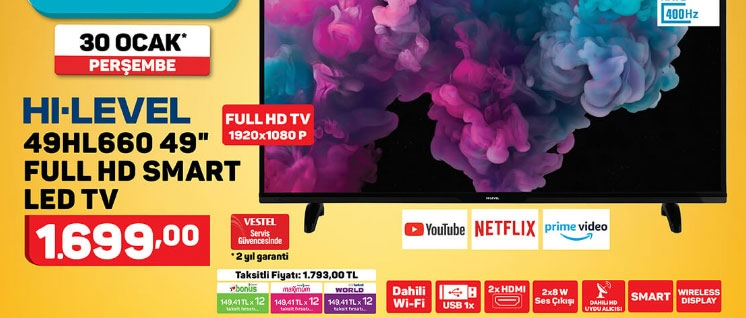 Hi-level 49hl660 Full Hd Smart Led Tv Özellikleri ve A101 Fiyatı