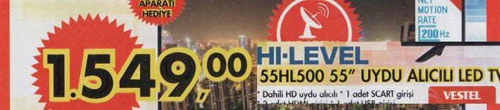 Hi-level 55hl500 55 inç Led Televizyon Özellikleri