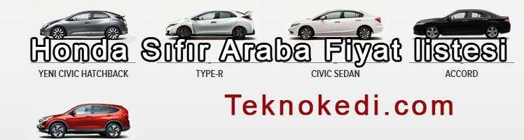 Honda Sıfır Araba Binek Otomobil Fiyatları Güncel
