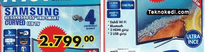 Samsung UE55K6500 Curved Tv İncelemesi ve A101 Fiyatı