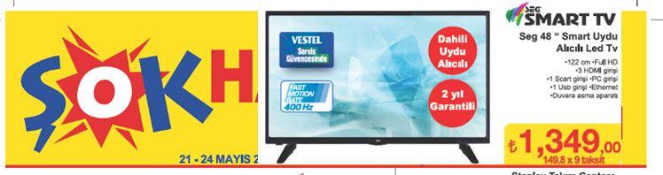 Şok Market Seg 48 inç Smart Led Televizyon