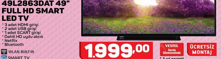 Toshiba 49L2863DAT 49 inç Full Hd Televizyon Özellikleri ve Fiyatı