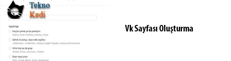 Vkontakte blog sayfası nasıl oluşturulur?
