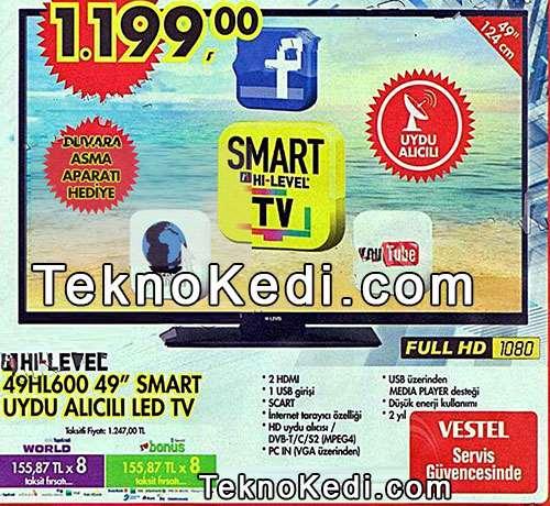 Hi-Level 49hl600 smart televizyon