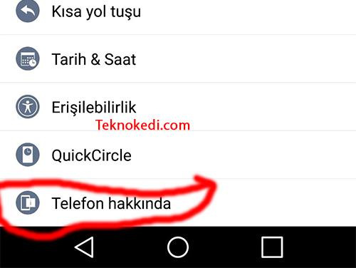 android telefonlarda mac adresini öğrenme