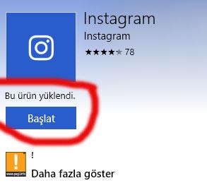 bilgisayardan instagram aç