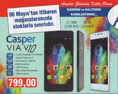casper via v10 akıllı telefon