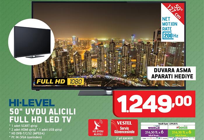 hi-level 50 inç televizyon