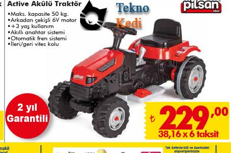 Pilsan active akülü traktör