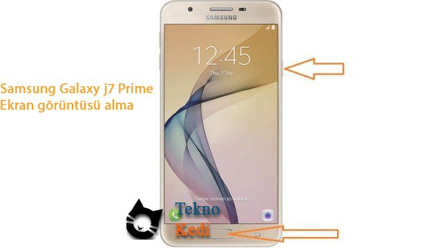 samsung j7 prime ekran görüntüsü alma