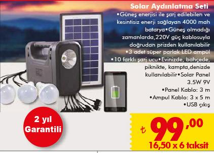 Şok market solar enerji sistemi