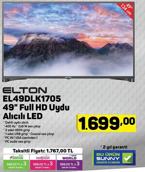A101 Elton EL49DLK1705 Uydu Alıcılı 49 inç Televizyon