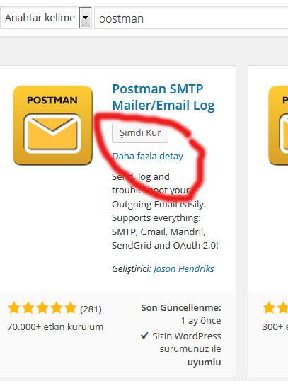 wordpress email gönderme