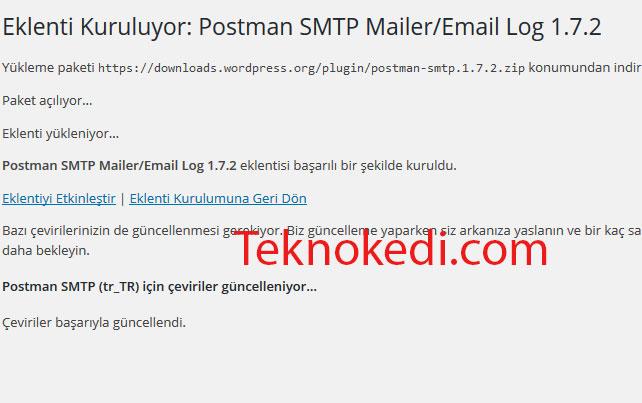 wordpress mail yollama